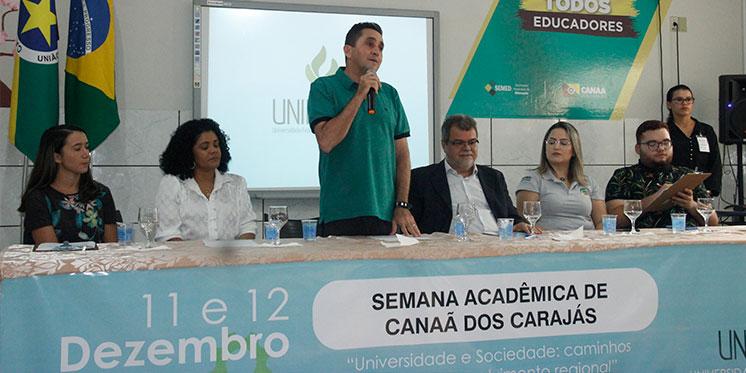 I Semana Acadêmica de Canaã dos Carajás debate desenvolvimento regional